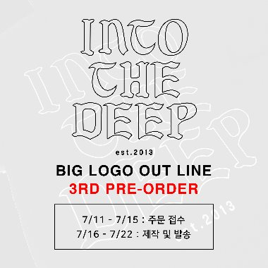 BIG LOGO OUT LINE 3RD PRE-ORDPER BLACK